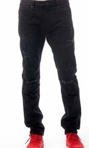 Men's Smoke Rise black denim distressed jeans